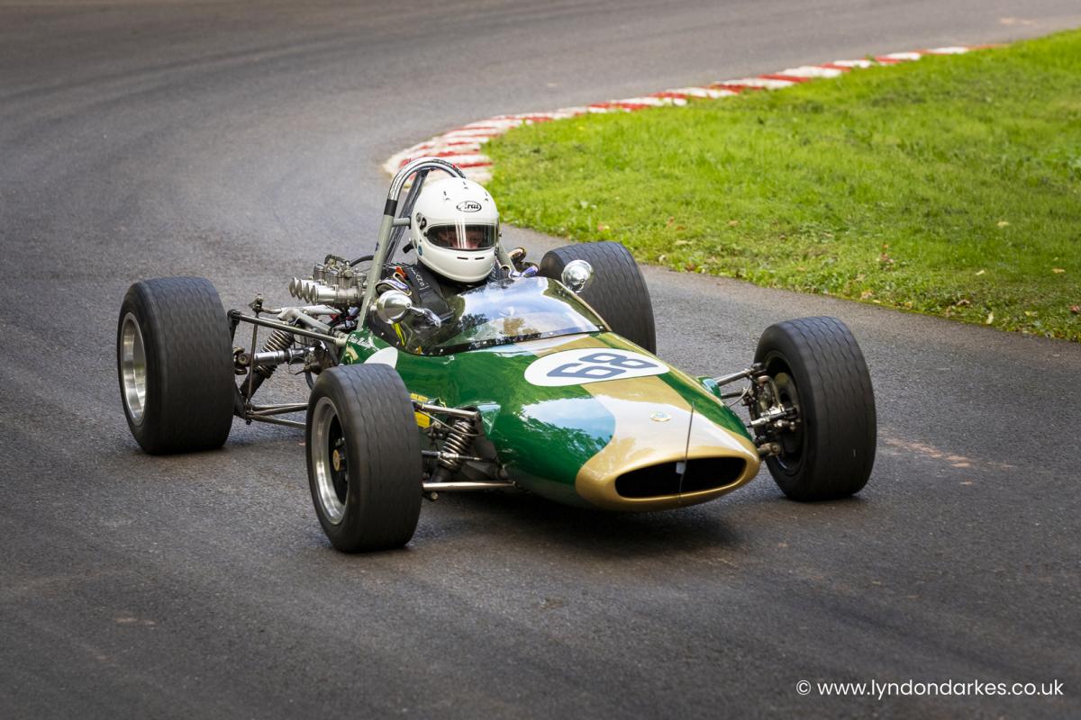 Brian Meddings in a Lotus 51c at Shelsley Walsh September 2021