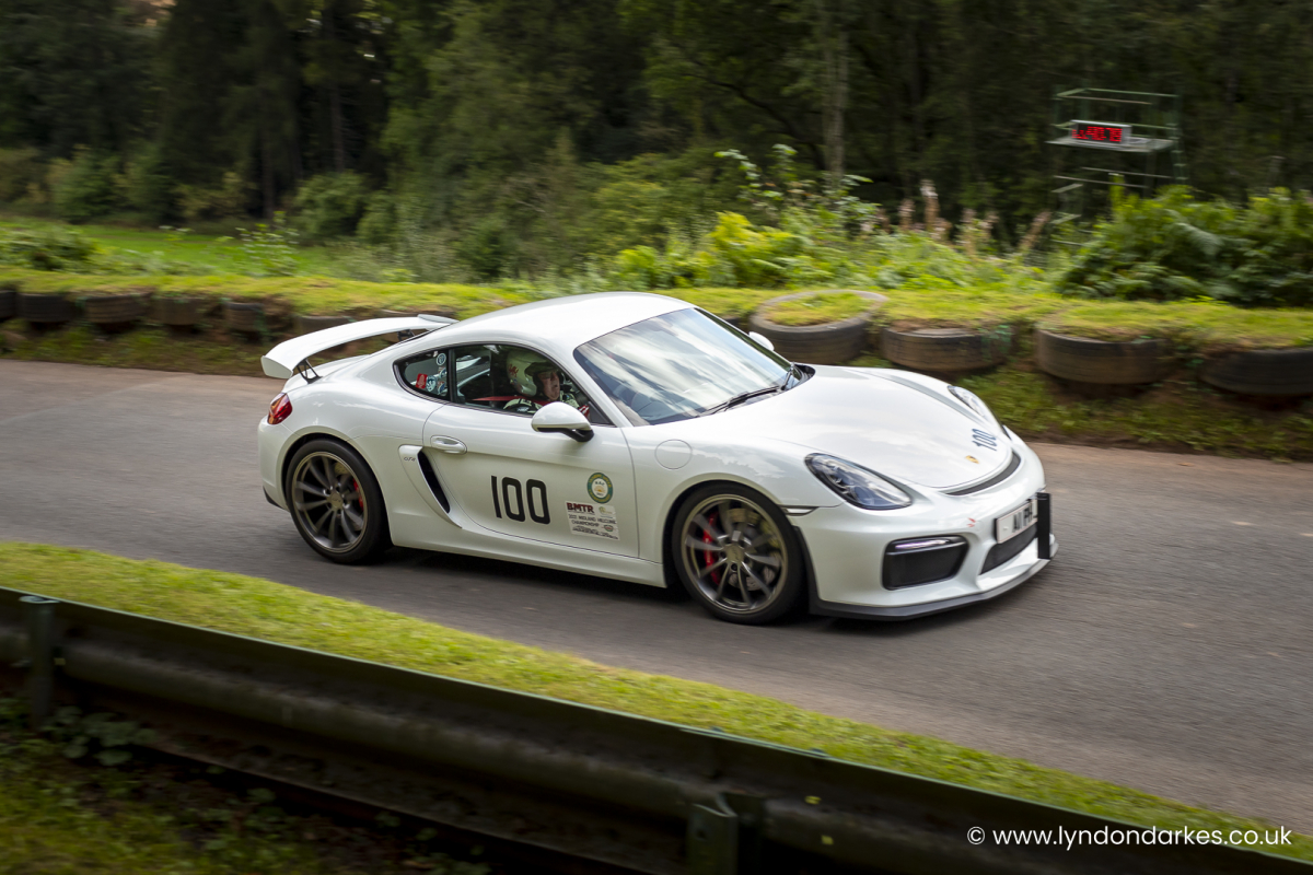 Phil James in a Porsche Cayman 3.4 S at Shelsley Walsh September 2021