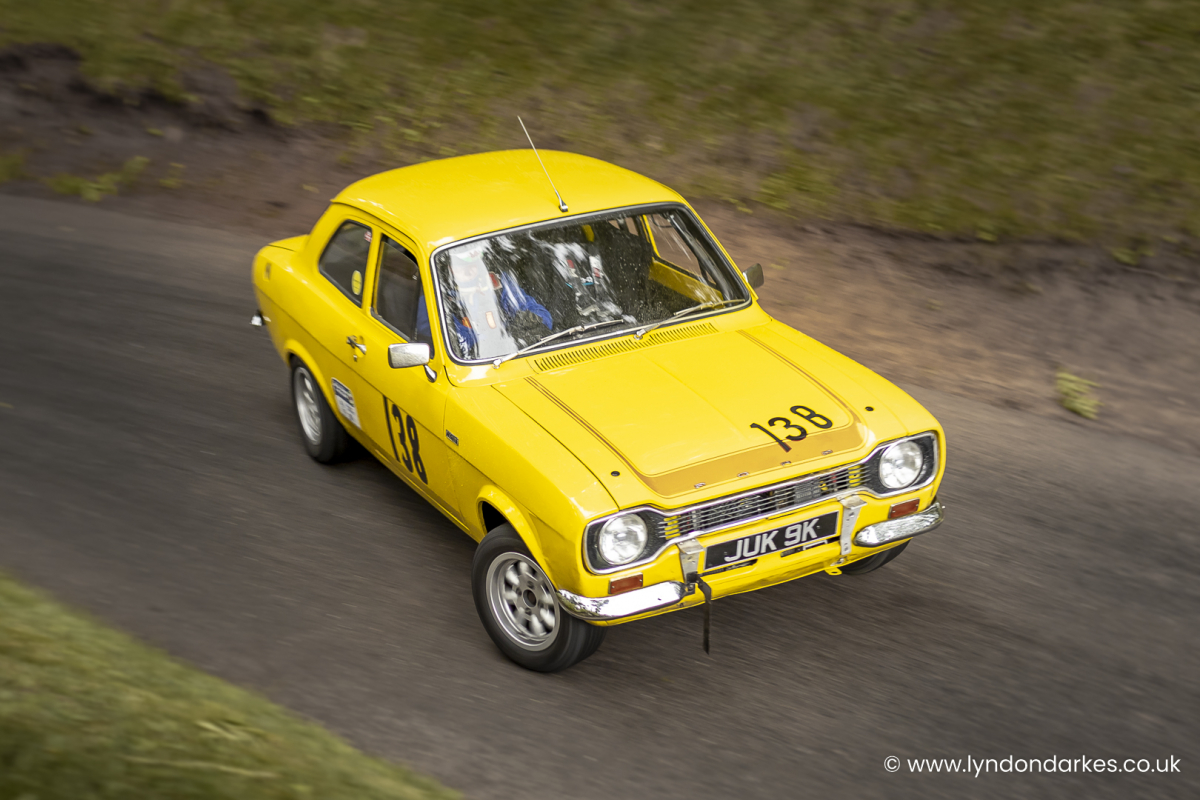 Anthony Bailey in a Ford Mk1 Escort at Shelsley Walsh September 2021