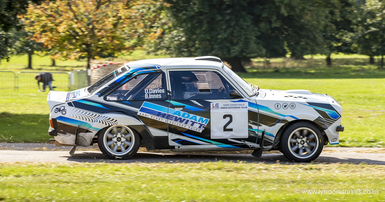 Oliver Davies in a Ford Escort 2500cc