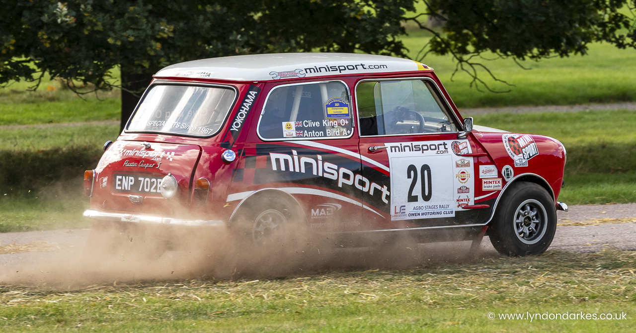 Clive King in a Austin Cooper S
