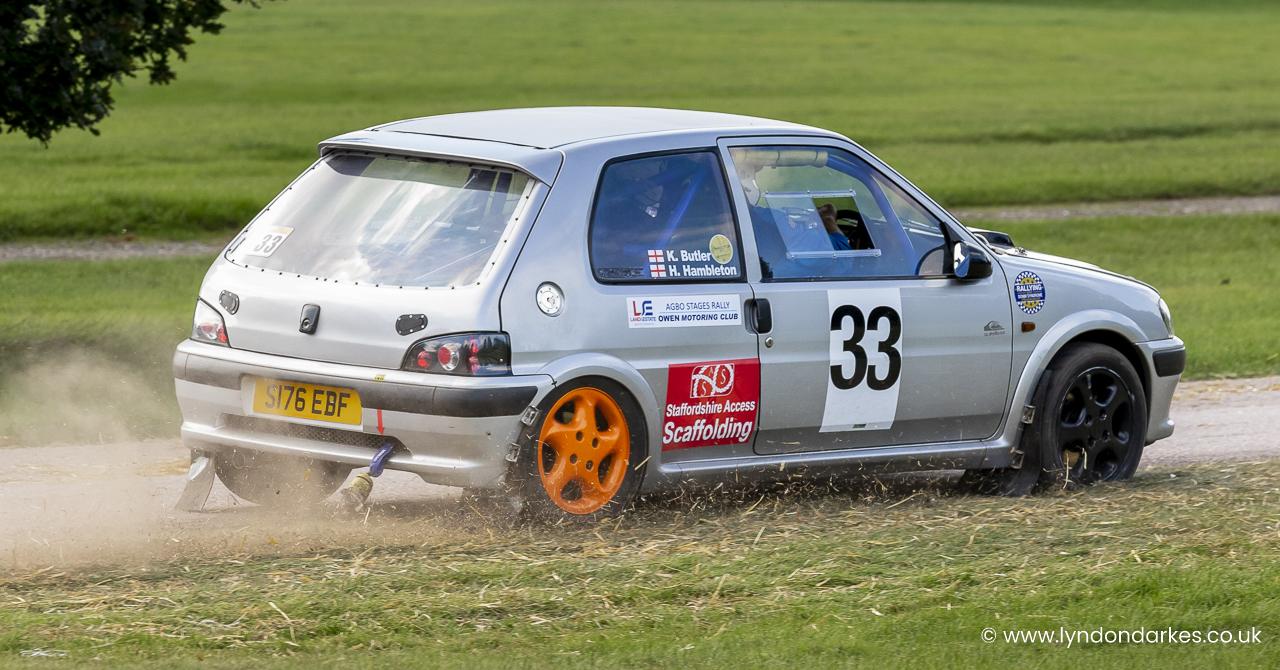 Kevin Butler in a Peugeot 106
